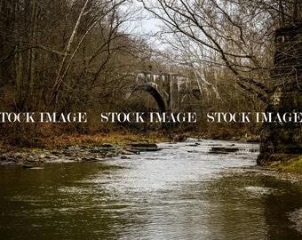 Creek - Water - Stone - Bridge - Railroad - Arches - Digital Background - Digital Backdrop