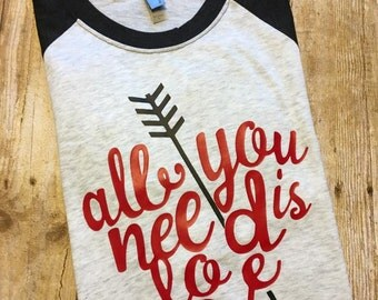 Valentines Shirt- Raglan- Adult Raglan- Vday Shirt