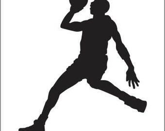 stencil reusable basketball