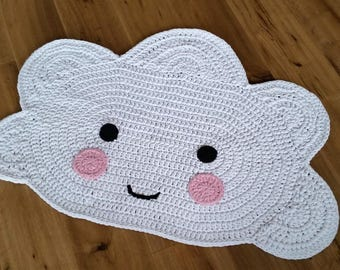 "Children's rug ""Cloud"" / cloud carpet / crochet rug / crochet / carpet / cloud / cloud"