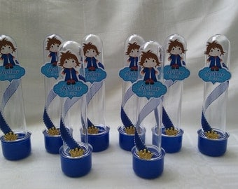 Prince candy tube party favors