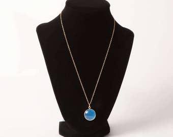 Blue Jade Pendant Necklace