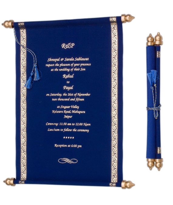 like this item - Wedding Scroll Invitations
