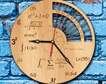Science wall art gift scientist wall clock science charm math decor physics gift math poster science project