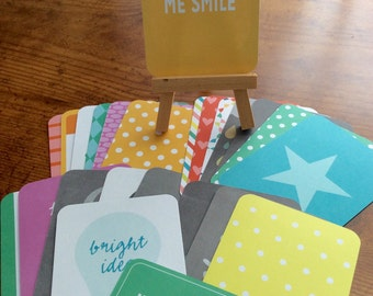 Project Life Destash-25 3 x 4 Cards-Pack 1-Happy Edition