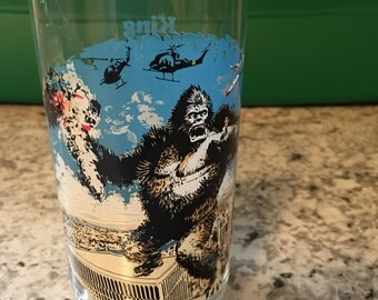 King Kong Vintage Coca Cola Glass 1976