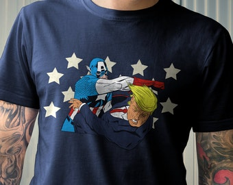A Punch For America | Men's Unisex Superhero Punch Trump T-Shirt | America Political T-Shirt and Clothing