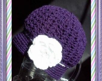 Cozy Flower Crochet Hat