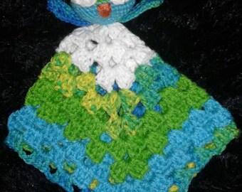 Owl baby blanket lovey