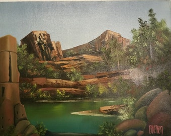 Oil painting by Coleman.