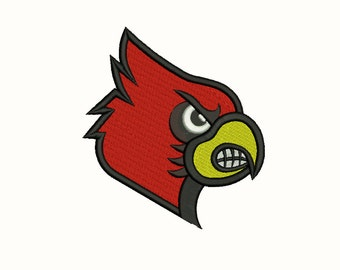 louisville cardinals embroidery 10 Size Design Instant Download 8 Formats machine embroidery pattern Download machine embroidery
