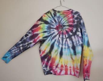 NYC rainbow tie dye sweatshirt