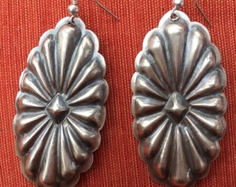 Hand made Native American Silver Earrings