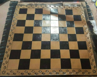 Nice Chess Boards leather chess board | etsy