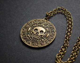 Pirates of the Caribbean coin necklace