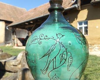 Green Clay Vase