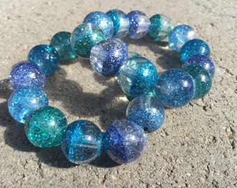 Sparkling blue seas bracelets