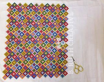 Vintage-Inspired Cross Stitch Textile Pattern