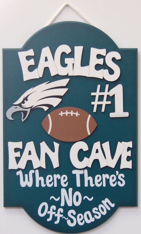Philadelphia Eagles Man Cave Accessories : Philadelphia eagles football sports sign wooden signs