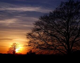 Winter Sunset A4 Colour Print