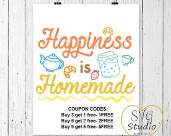 Happiness is Homemade SVG Cutting File-INSTANT DOWNLOAD