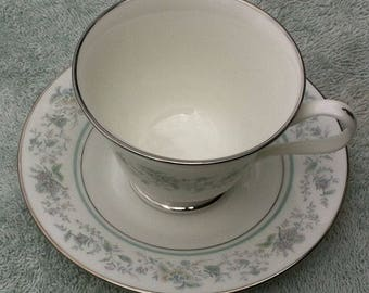 Oxford Bone China Spring cup and saucer