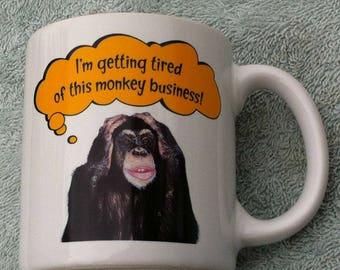 Monkey Business Coffee Mug, AGC Stoneware