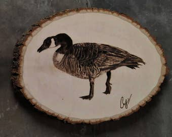 Wood-Burning: Hissing Canada Goose