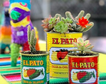 Fiesta Weddings/Birthdays/Events Centerpieces/Decorations El Pato Cans-Large-Set of 6