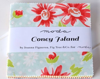 Coney Island Charm Pack by Fig Tree and Co, for Moda Fabrics
