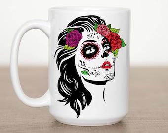 11 oz or 15 oz Dia De Los Muertos Mug