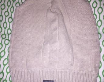 One of a kind sweater beanie - cream