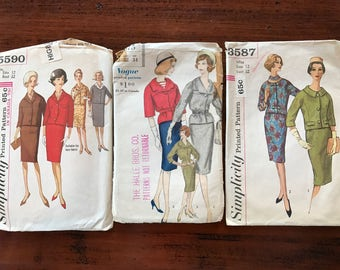 Vintage Suit Patterns - Set of 3