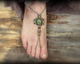 2 in 1 - gemstone barefoot sandal & bracelets