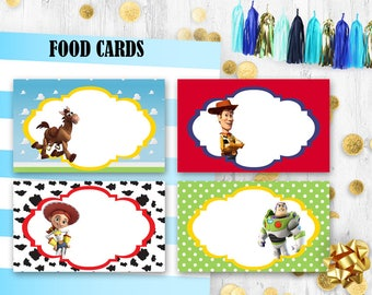 Toy Story Place cards Food tents Table cards Escort cards Toy story birthday decoration  sc 1 st  Etsy & Toy story tents | Etsy