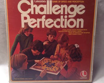 Vintage 1978 Lakeside's Challenge Perfection Game