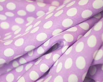 Lilac White Spotted Viscose