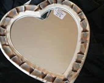 French Partridge Heart Mirror