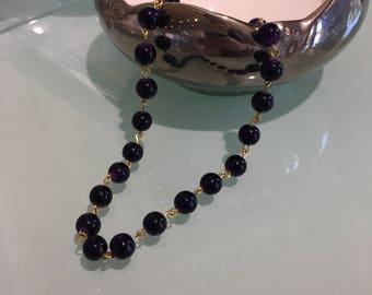 Deep Purple Bead Layering Necklace