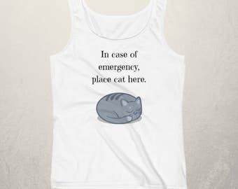 In Case of Emergency Place Cats Here Ladies Tank Top