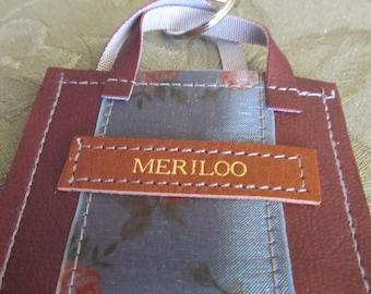 Meriloo Handmade Leather Mini Purse Keychain