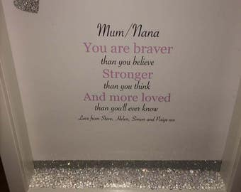 Personalised mother/Nan/Friend suitable for all occasions