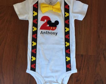 Mickey mouse 2nd birthday boy outfit, 2nd birthday boy outfit, Baby boy first birthday outfit, Mickey smash cake birthday outfit