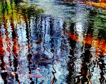 """limited artistic Photography """"water-curtain"""" by Thomas de Bur Germany 100% cotton canvas gallery photograph certificate"""
