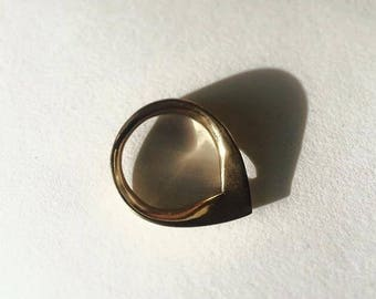 Cast Bronze Silhouette Ring