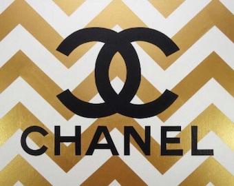 Chanel inspired wall art fashion canvas acrylic pop art