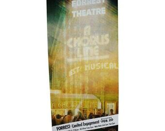 "Authentic Chorus Line Musical Forrest Theatre Billboard 78"" x 36"""
