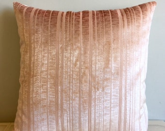 Salmon Velvet Pillow Cover, Pillow Velvet, 18X18 Salmon Pillow, Designer Pillow, Velvet Pillows, Velvet Cushion Covers, Salmon Sofa Pillow