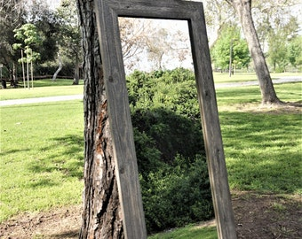 full length mirror gray/ floor mirror/ large mirror/ mirror/ decorative wall mirrors/ rustic bathroom mirrors/ bathroom mirrors