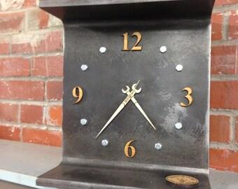 Steel I Beam Clock